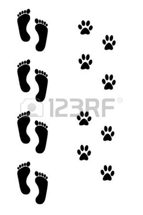 dog and human footprints over white background | Tattoos I like | Pinterest | Photos