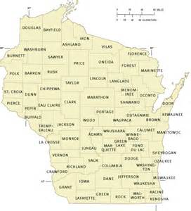 Wisconsin County Map WI