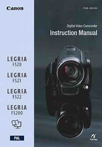 Canon Fs200 Video Camera Download Manual For Free Now