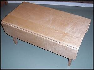 handmade tiger maple drop leaf coffee table by rockledge With tiger maple coffee table