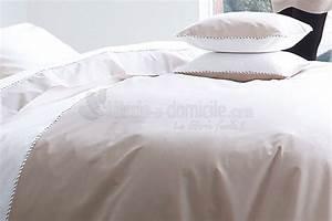 Linge De Lit Lin : linge de lit memory blanc des vosges ~ Teatrodelosmanantiales.com Idées de Décoration