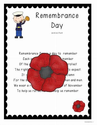 Remembrance Grade Activities Poem Poems Snapshots November