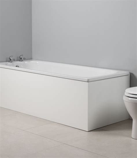 White Bath by Meridian 700mm End Bath Panel White Tavistock Bathrooms