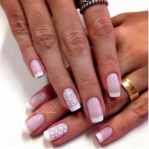 21 Fancy French Manicure Designs | NailDesignsJournal.com