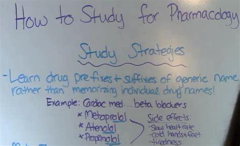 study  pharmacology  nursing school