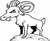 Goat Coloring Billy Clipart Goats Colouring Gruff Printable Animal Animals Clip Funny Children Drawn Sheet Cliparts Library Popular sketch template
