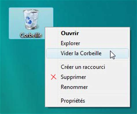 supprimer raccourci bureau supprimer la corbeille du bureau 28 images windows 7