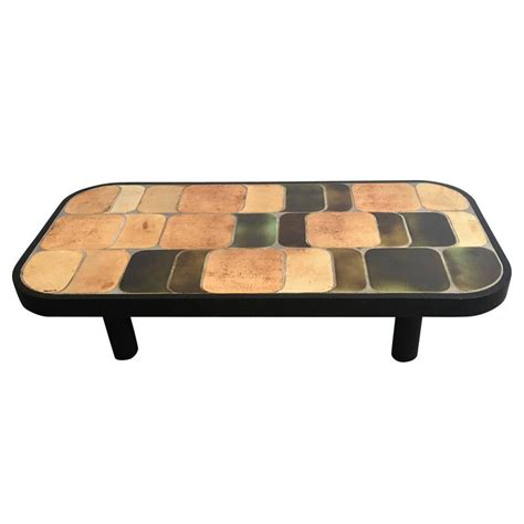Ceramic Coffee Table By Roger Capron At 1stdibs