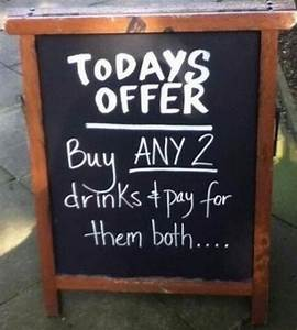10 of Our Favorite Funny, Clever and Outrageous Chalkboard