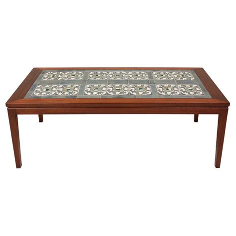 tile coffee table tile top coffee table at 1stdibs