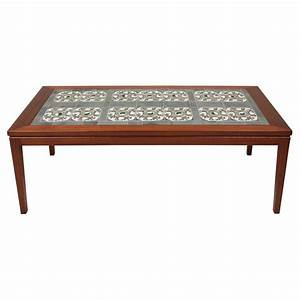 Danish tile top coffee table at 1stdibs for Tile top coffee table