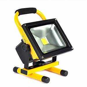 Led flood lights rechargeable w floodlight portable