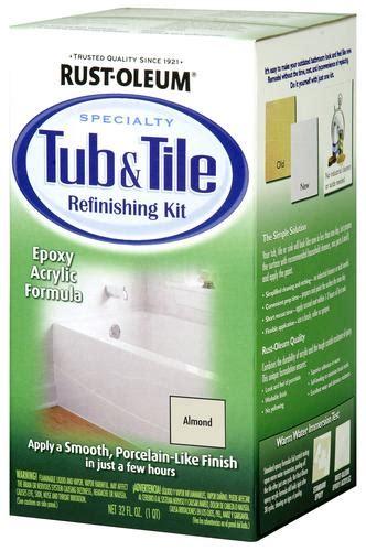rust oleum 174 specialty almond tub tile refinishing kit