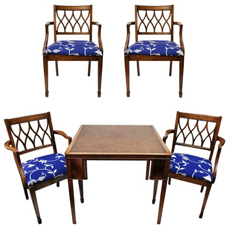 game table sets with chairs english game table and chairs at 1stdibs