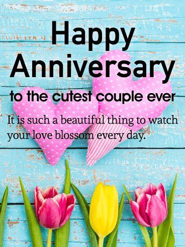 cutest couple happy anniversary card  anniversary card   great choice
