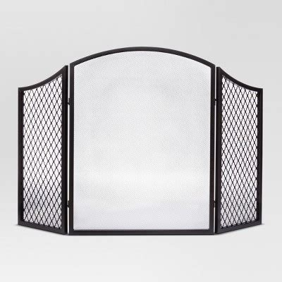 fireplace screens target fireplace screen black threshold target