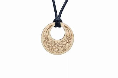 Celtic Knot Wooden Gifts Jewelry Pendant Round