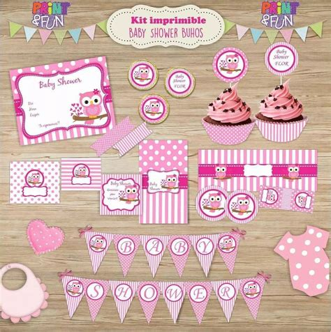 Baby Shower Kid by Kit Imprimible Buho Baby Shower Ni 241 A Bar Promo 2x1