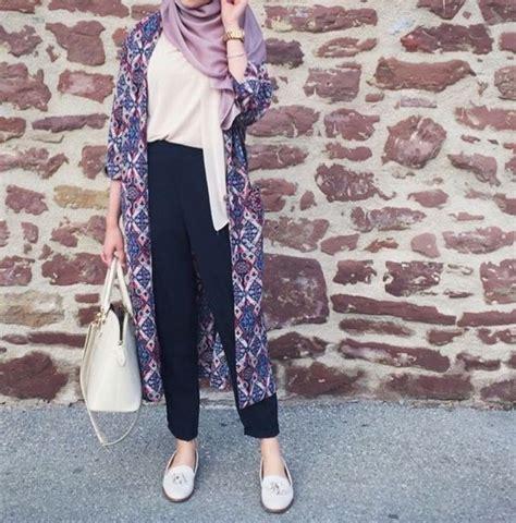 pin oleh hannathhannu  hijab style gaya boho gaya kasual  model pakaian hijab