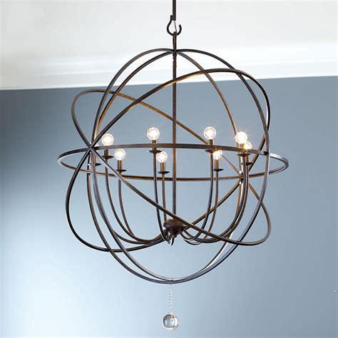 Orb Light Chandelier by Orb Large Chandelier Ballard Designs