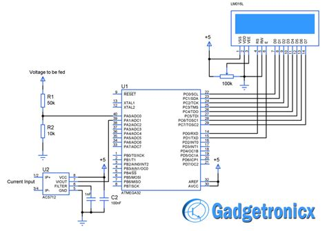 volt amp meter  avr microcontroller gadgetronicx