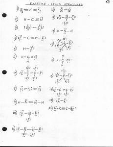Worksheet  Lewis Dot Structure Practice Worksheet