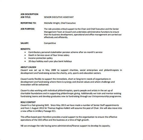 And that's just the beginning. Personal Assistant Job Description Example