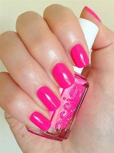 Image Gallery neon light pink nails