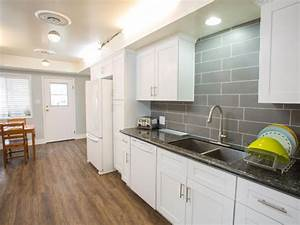 white kitchen cabinets with gray quartz countertops 889