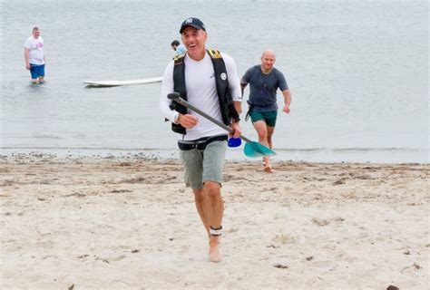 Matt Lauer All Smiles Paddleboarding in the Hamptons in ...