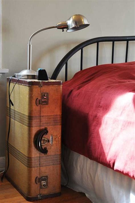 Suitcase Nightstand by 30 Fabulous Diy Decorating Ideas With Repurposed