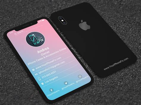 Apple has made a massive improvement in how passwords and credit cards details are stored and managed on different devices. iPhone X style business Card | Professional business card design, Business card photoshop ...