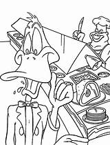 Daffy Duck sketch template