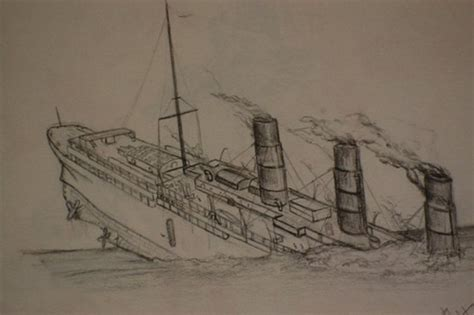Titanic Sinking 3d by My Drawing Of The Sinking Of The Lusitania My Drawing Of