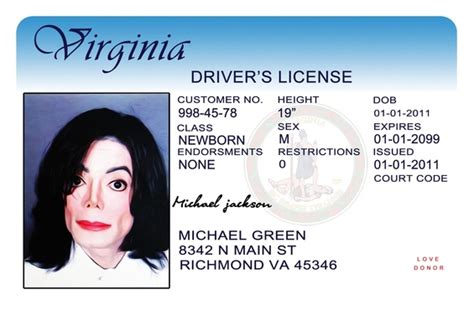 Send You Costumized Virginia Drivers License Psd Template