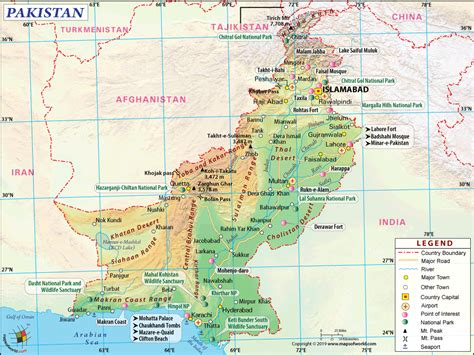 pakistan map map  pakistan