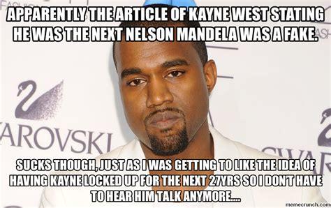 Kayne West Meme - kanye west vs nelson mandela