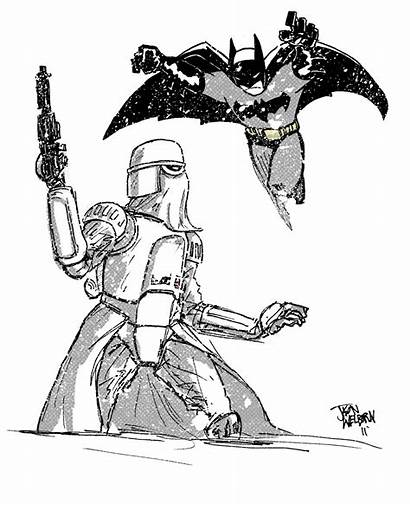 Star Wars Batman Awesome Coloring Pages Mash