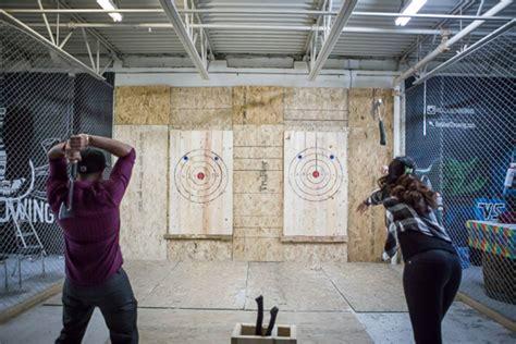 Backyard Axe Throwing Toronto by Backyard Axe Throwing League Batl Grounds Blogto