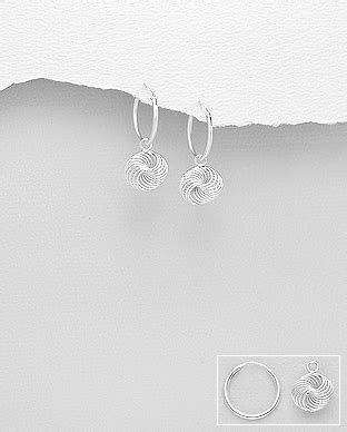 spiral dangle hoop earrings jewellery wholesale
