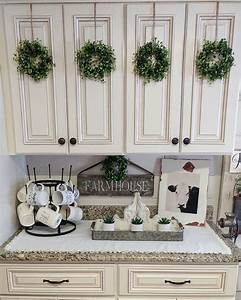 25 best farmhouse kitchen decor ideas on pinterest With kitchen cabinets lowes with dollar tree wall art
