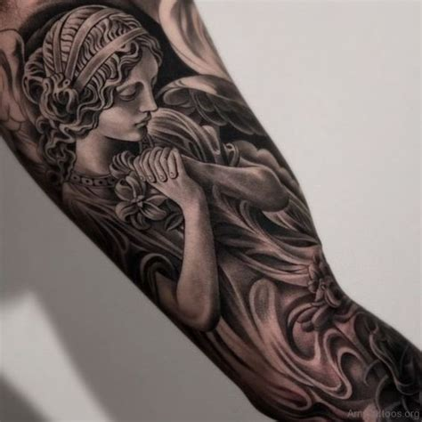 95 Awesome Angel Tattoos For Arm