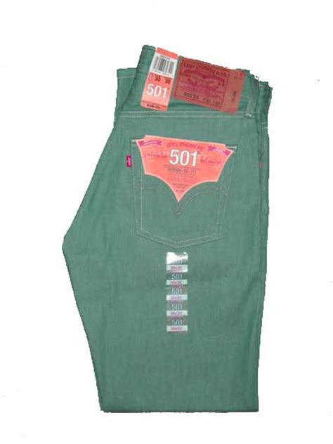 Levis 501 Jeans  Teal Green Shrinktofit (0758)  $4599