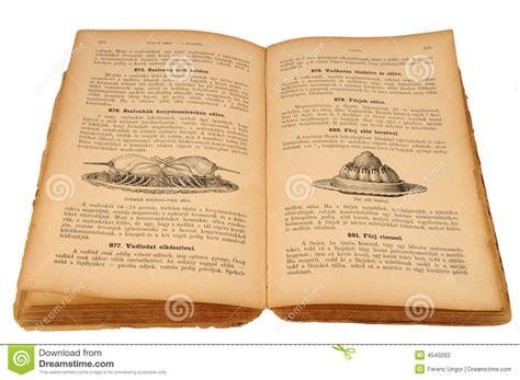 vieux livre de cuisine photographie stock image 4540262