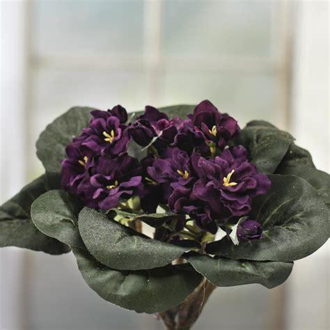 purple velvet artificial african violet bush bushes