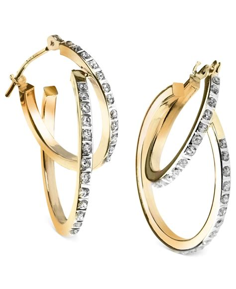 macy 39 s 14k yellow or white gold earrings accent