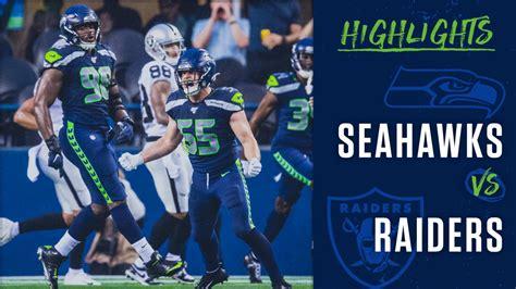 preseason week  seahawks  raiders highlights