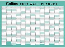 Wall Planner 2019 A2 Double Sided Laminated 2019 Wall