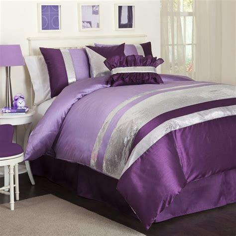 Bedroom: Bring Comfort To Your Bedroom With Cool Purple