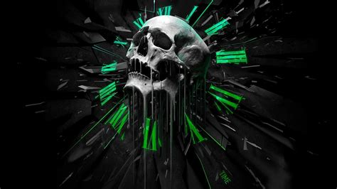 skulls  guns wallpaper  images